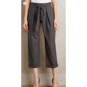 Anthropologie Belted Barton Trousers